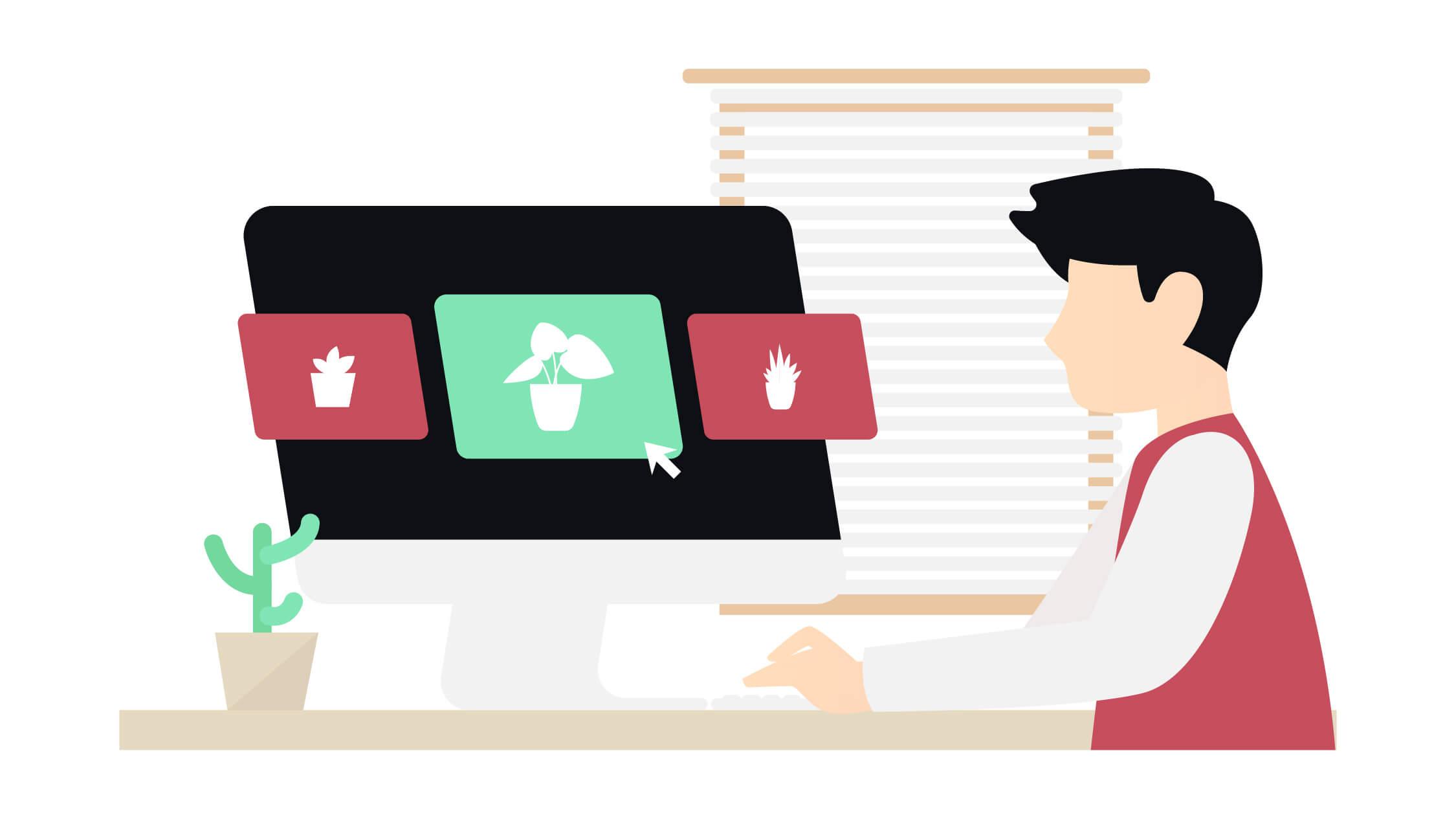 Persoon die kijkt naar Fotofy interface